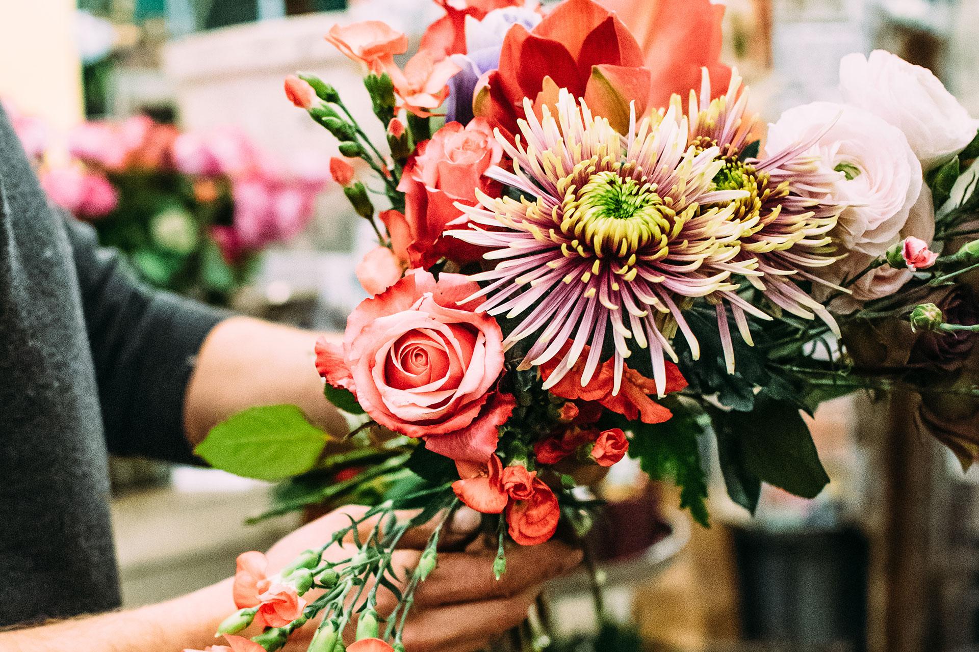 Blumenarrangement für Business Events