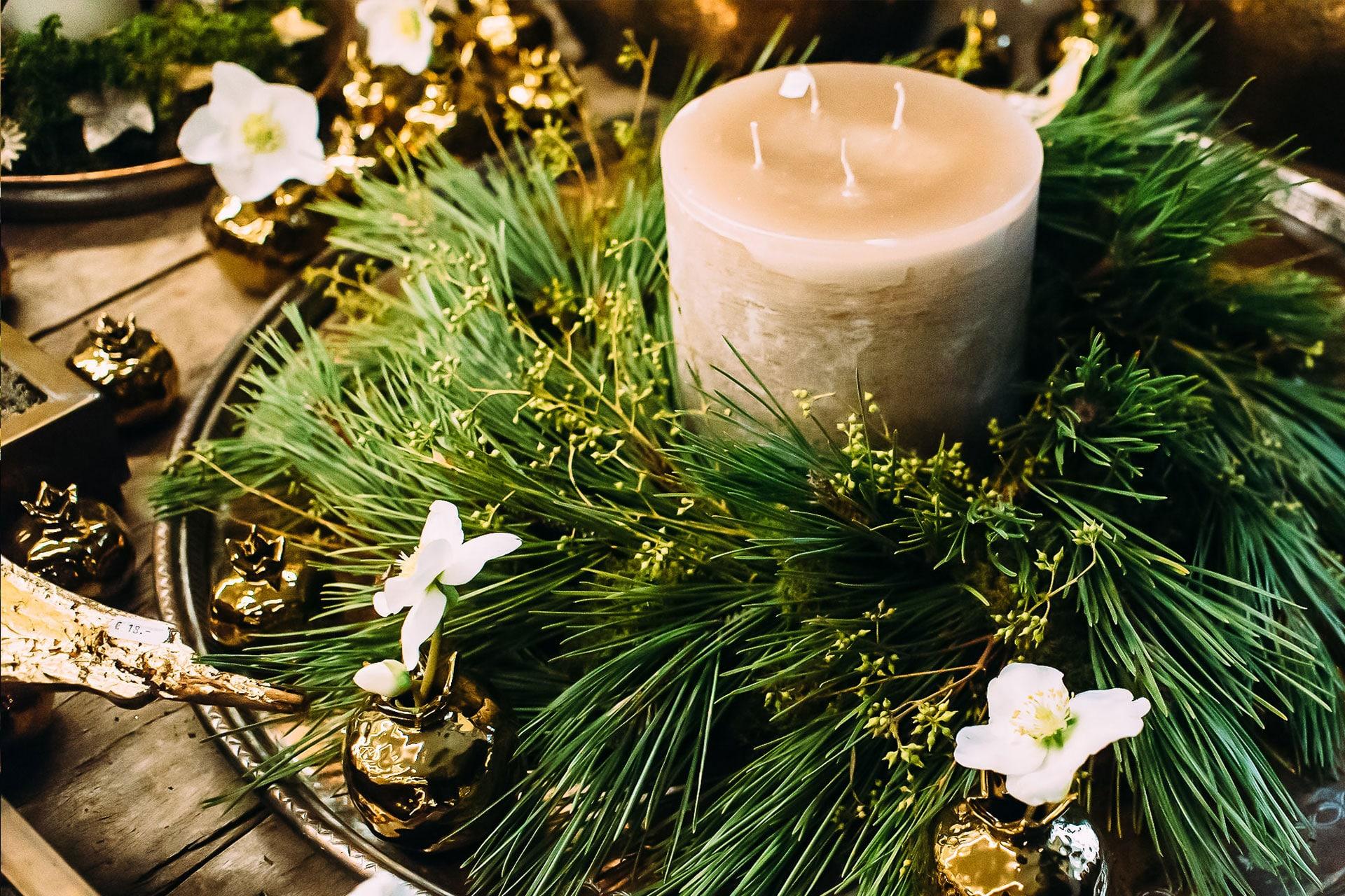 Adventskranz beim Stuttgarter Floristen