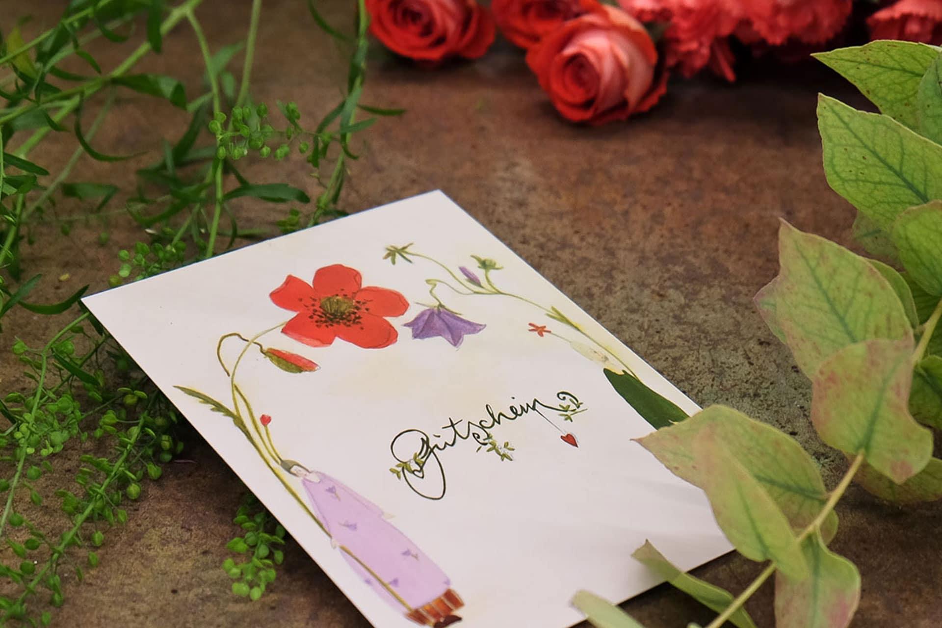Gutschein für Blumen