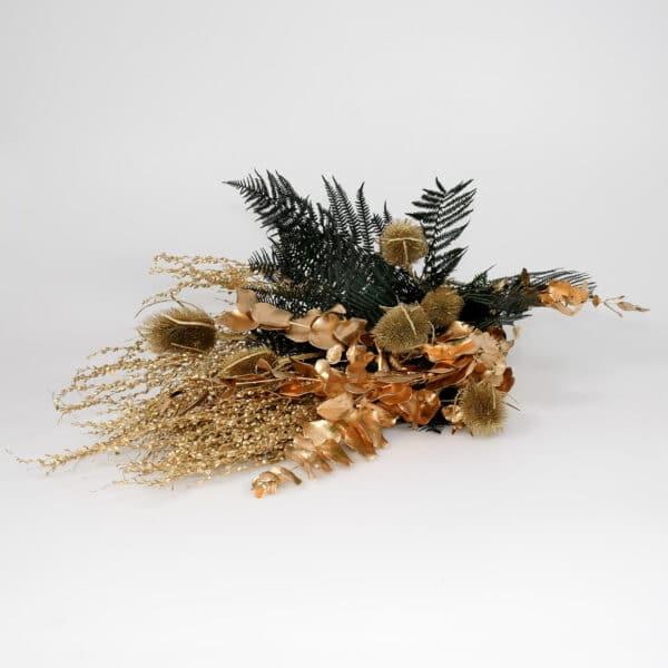 Trockenblumen Gold & Farn